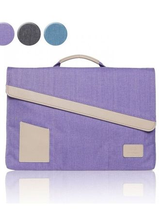 Violet color Hand Bags . Original GEARMAX PREMIUM GM4046 15.4 Inch Environmental protection Nylon Laptop Sleeve Case Bag for Notebook - Tablet - Macbook - Surface - iPad - Purple -