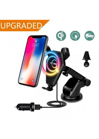 . FAST CHARGE Qi-Enabled Wireless Charger 2 in 1 Car Air Vent Holder -