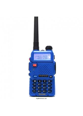 No Color color Camping & Hiking . Radio Walkie Handy Talky HT BAOFENG POFUNG Dual Band UHF VHF UV-5R - Blue -