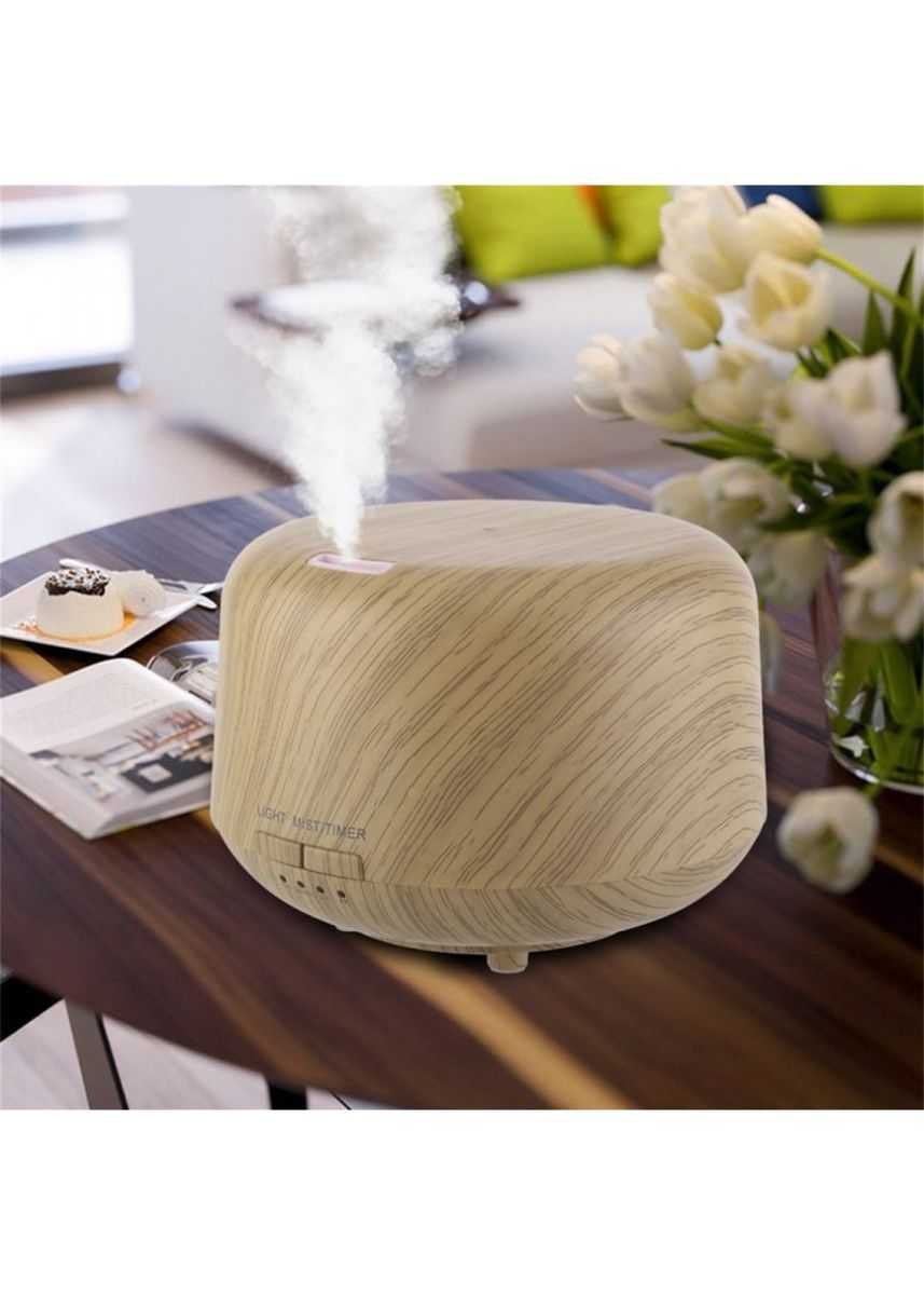 Multi color Home Decor . H28 - Wooden Humidifier Aroma Diffuser 7 Color LED Light 250ml Brown -
