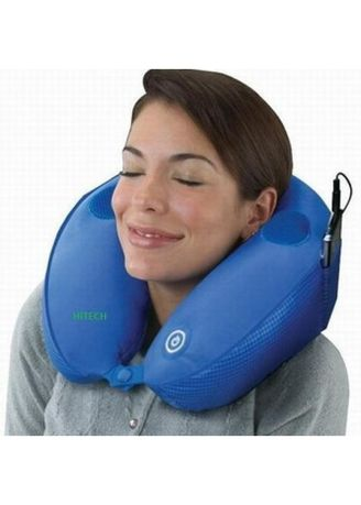 Multi color Bedroom . Bantal Leher Pijat Musik MP3 Travel Pillow Massage -