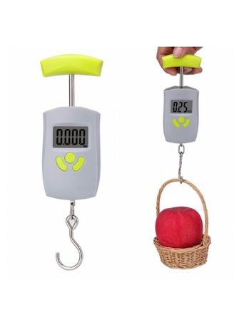 . Portable Mini LCD Electronic Digital Scale Hanging Fishing Hook Pocket Kitchen Weighing Scale - 50kg -