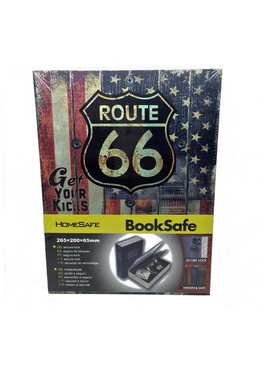 Multi color Storage . Book Safety Box Bentuk Buku - Large Route 66 -