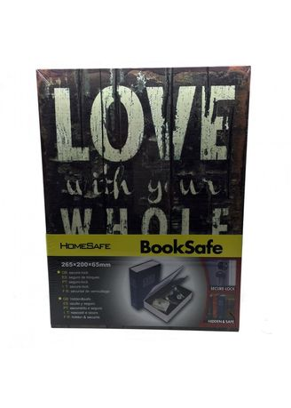 Multi color Storage . Book Safety Box Bentuk Buku - Medium Love -