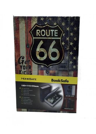 Multi color Storage . Book Safety Box Bentuk Buku - Small Route 66 -