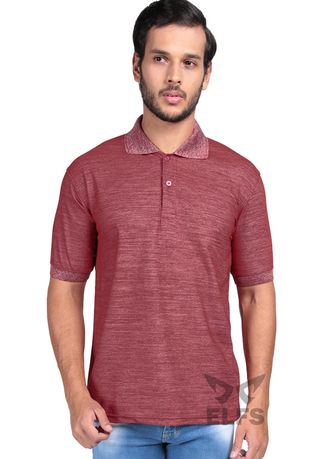 Maroon color T-Shirts and Polos . Polo Shirt Pria Lengan Pendek Lacost Misty -