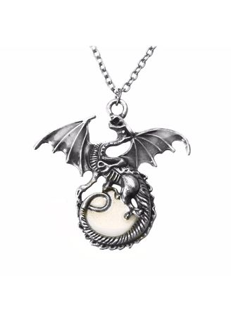 Necklaces . Punk Retro Luminous Glow In The Dark Dragon Pendant Chain Necklace Jewelry -