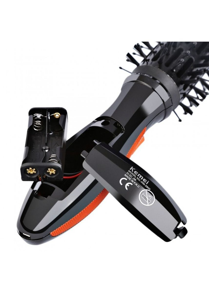 Black color Brushes . KEMEI KM-2900 Electric Curling Rotatable Massage Comb -