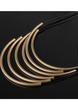 Black color  . Tiaria Long Necklace for Lady FSN015 Aksesoris Kalung -
