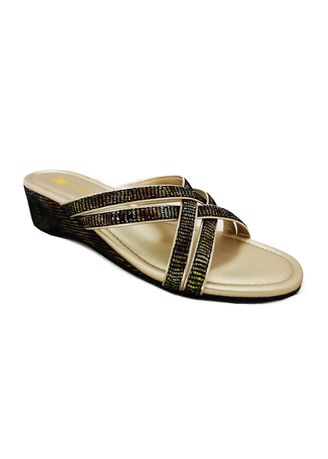 Black color Sandals and Slippers . Ladies Comfort sandal S120-1 -
