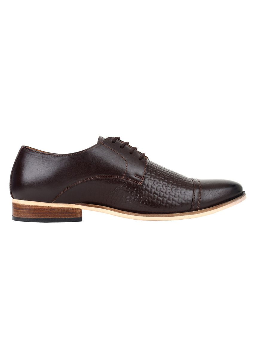 Brown color Formal Shoes . Lujo allure handmade Oxfords - Brown -
