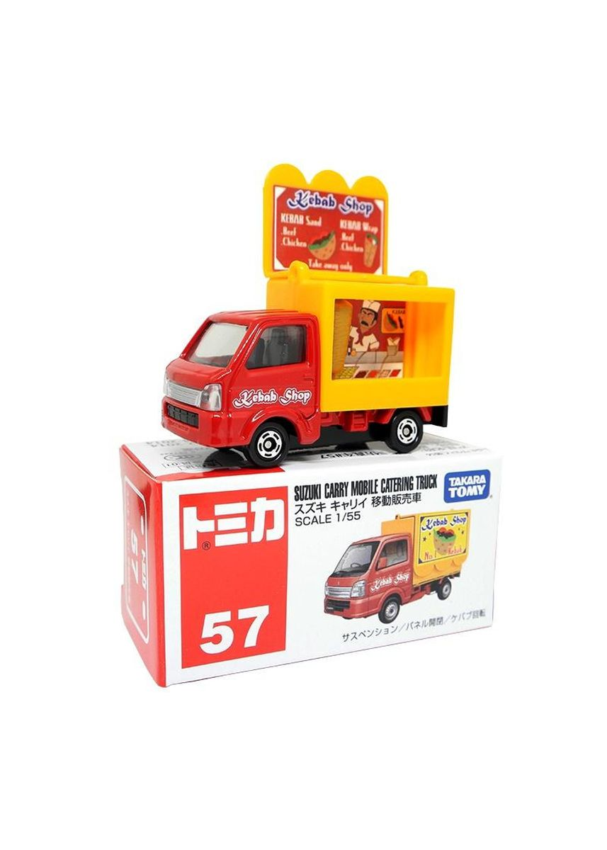 Red color Toys . Takara Tomy Tomica 57 Suzuki Carry Mobile Catering Truck Mini Die-Cast Toy Car -