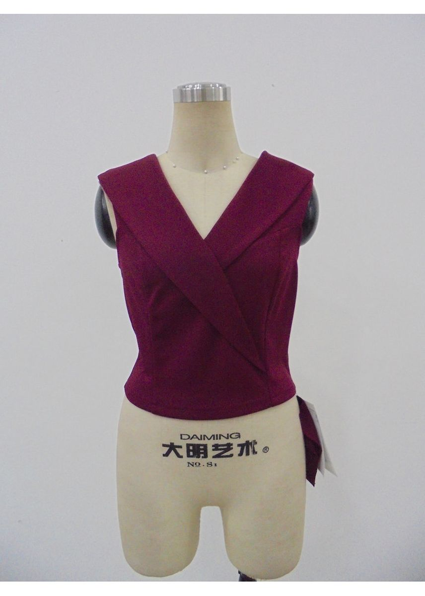 Maroon color Tops and Tunics . Soid Fashion Crop Top -