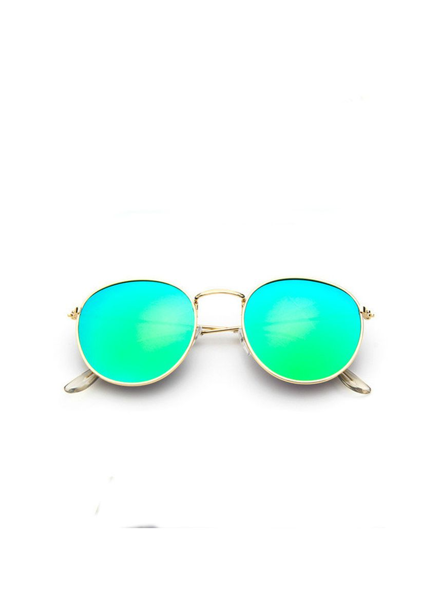 Green color Sunglasses . Retro Women Alloy Mirror Sunglasses -