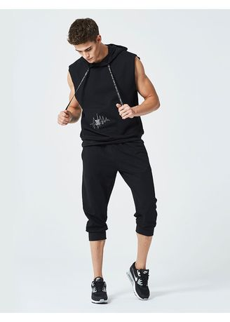 Black color Sports Wear . Men's sportswear set -