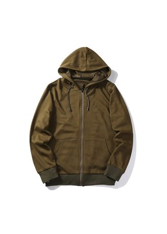 Olive color Sports Wear . Men's Zip-up Jacket -