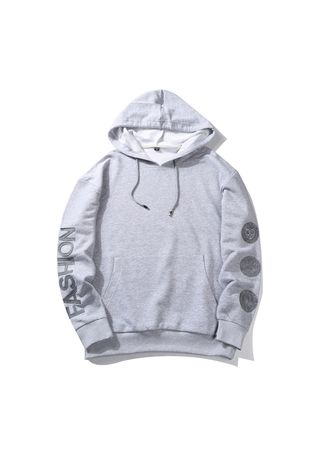 Grey color Sports Wear . Men's Fashion Hoodie -