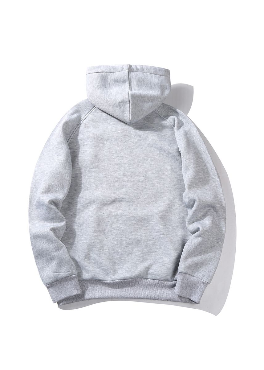 Grey color Sports Wear . Men's Hoodie (Thick) -