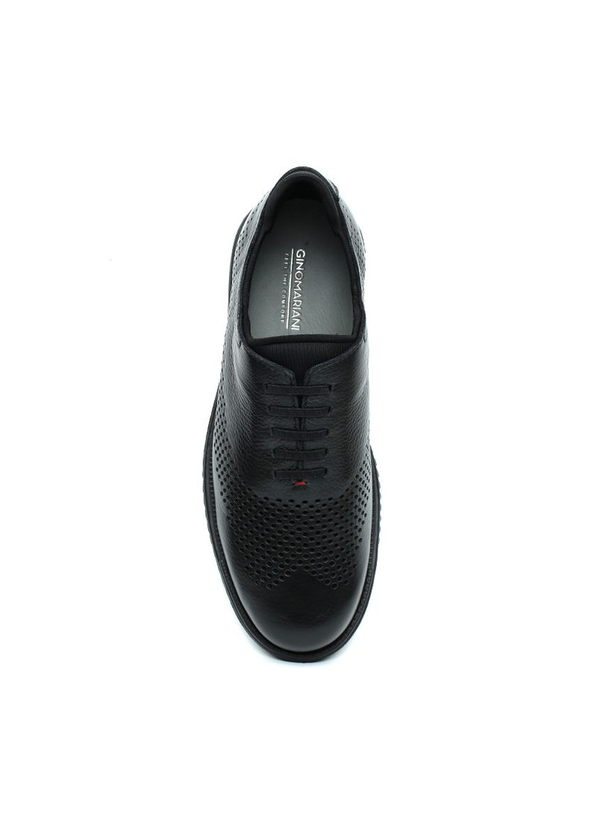 Hitam color Sepatu Kasual . GINO MARIANI  ZENOV 2 Exclusive Genuine Leather Casual Men's Shoes -