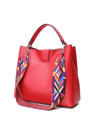 Red color Hand Bags . Women Modern Handbag -
