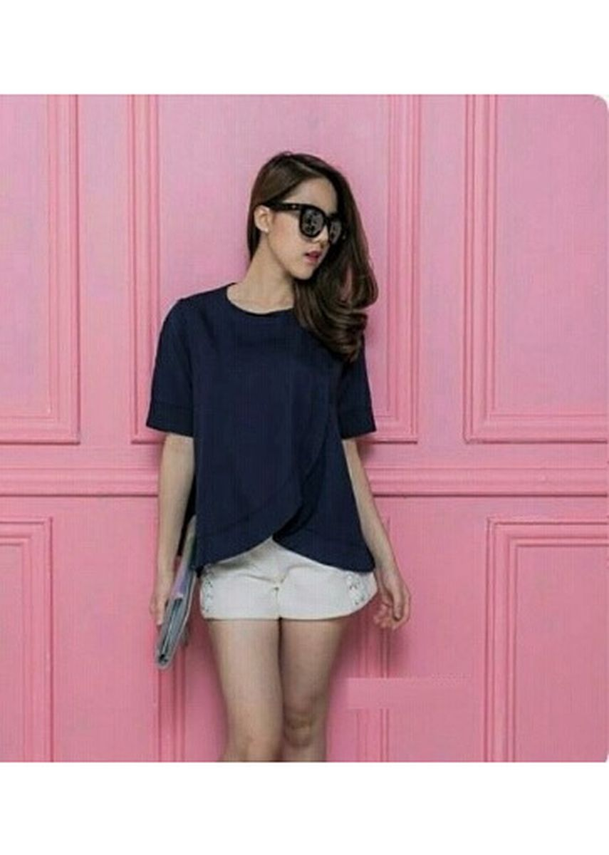 Navy color Tops and Tunics . BTS Hanny Blouse -