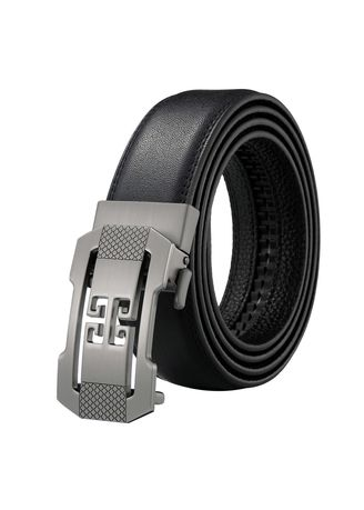 Genuine Leather Ratchet Belt with Automatic Buckle Ayli Mens Dress Belt