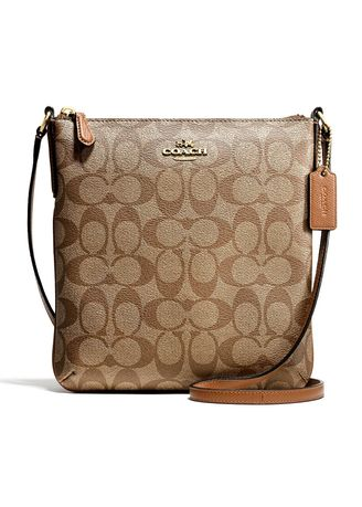 05b18398 กระเป๋า COACH F58309 NORTH/SOUTH CROSSBODY IN SIGNATURE (IMBDX ...