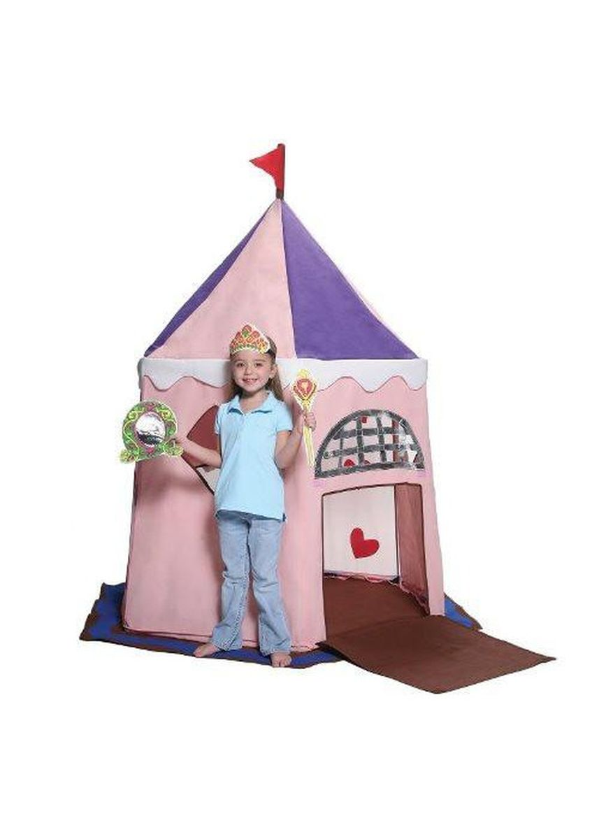 No Color color Camping & Hiking . Bazoongi - Fairy Princess Castle Play Tent -