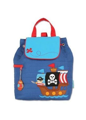 Navy color Bags . Stephen Joseph - Quilted Backpack (Pirate) -
