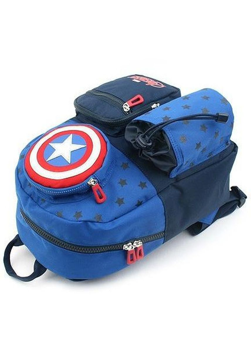 Navy color Bags . Winghouse - Captain America Star Picnic Backpack -
