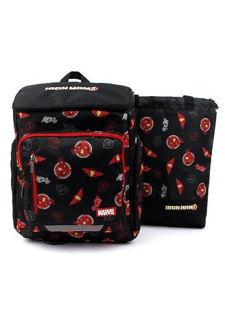 Black color Bags . Winghouse - Ironman Cartoon Backpack Set -