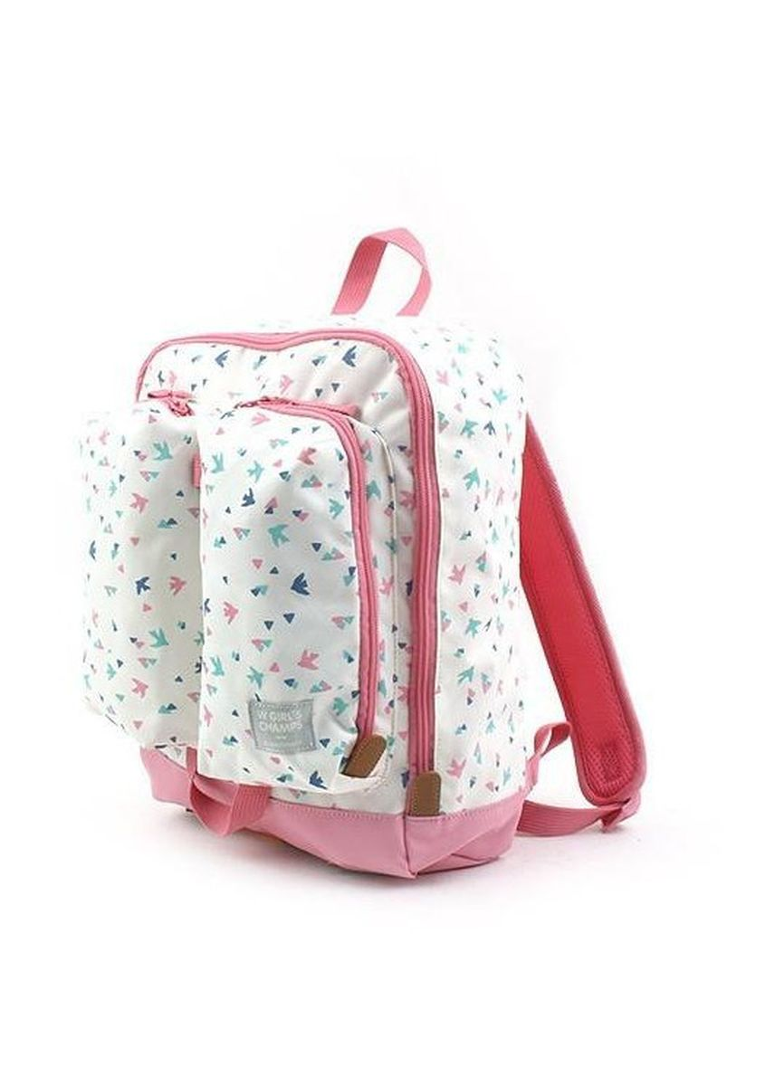 White color Bags . Winghouse Wing Future Bird Double Pocket Backpack -