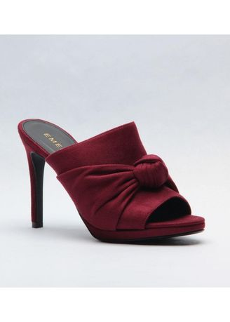 Red color Heels . Monique Bun Tied Heels -