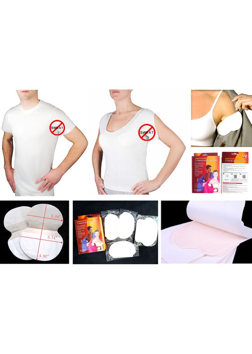 No Color color Personal Care . Disposable Underarm Shields - Buy One Get One FREE -