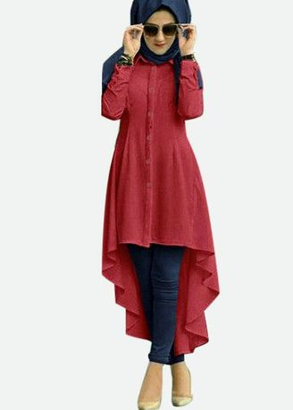 Maroon color Tops . Good Fashion Isadora Tunik -