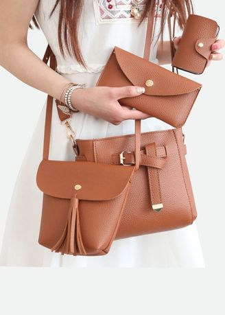 Brown color Sling Bags . cecilia -