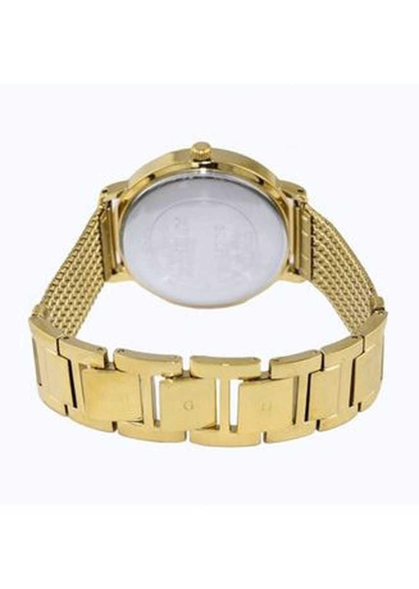 Gold color Analog . GUESS Women's WILLOW 36mm Gold-Tone Steel Bracelet & Case Quartz Watch W0836L3 -