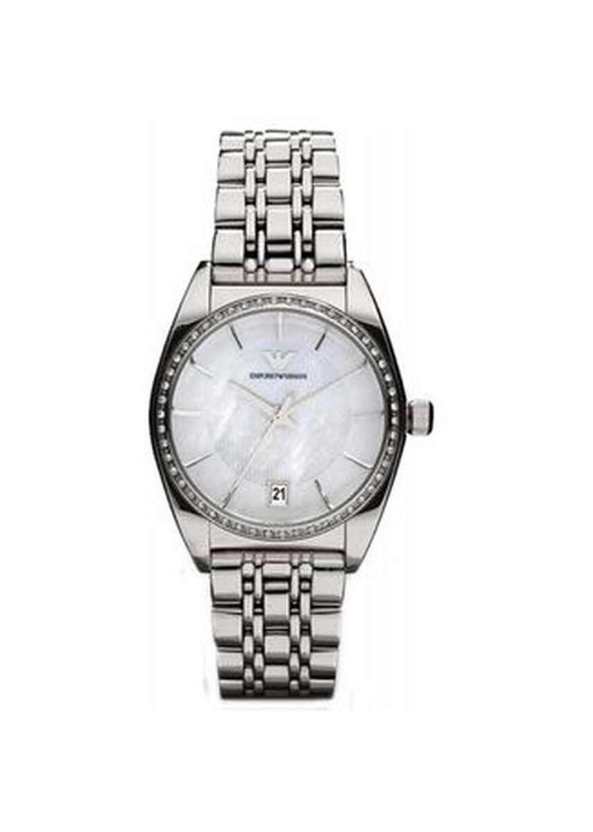 Silver color Analog . Armani Women's Quartz Watch AR0379 with Metal Strap -