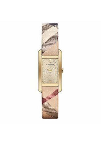 Beige color Analog . Burberry BU9407 25mm Stainless Steel Case Leather Women's Watch -