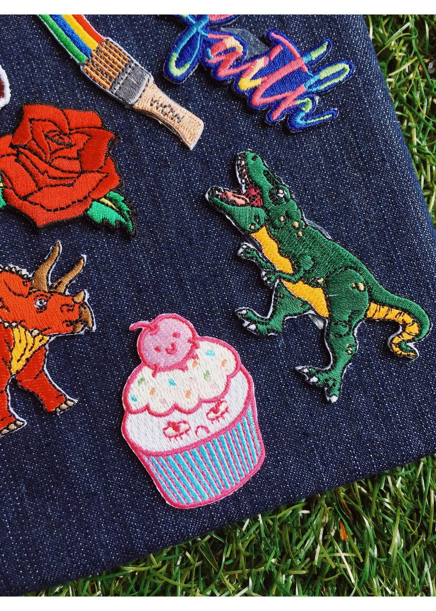 Multi color Other . Pew Pew X Christashell: Mr Sprinkles Iron On Patch -