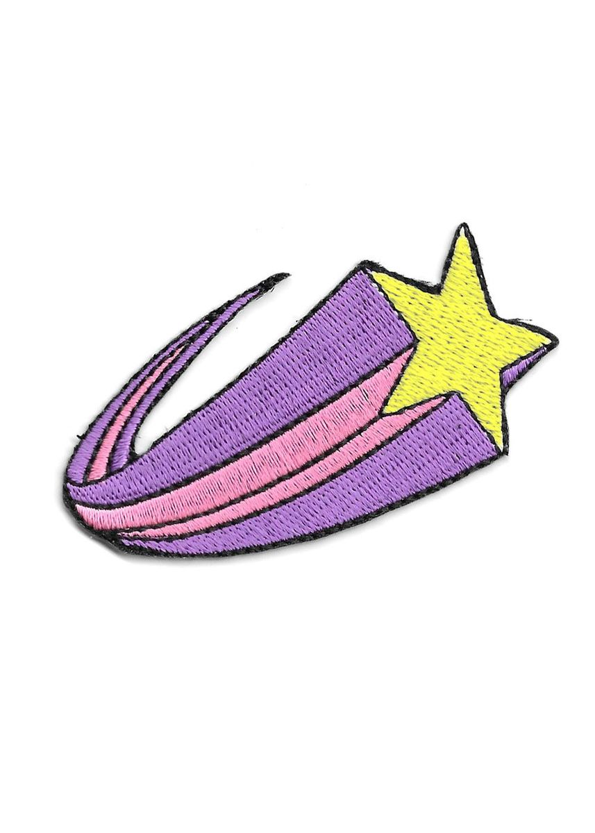 Purple color Other . Shooting Star Sticker Patch -
