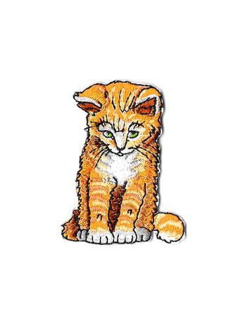 Orange color Other . Ginger Cat Iron On Patch -