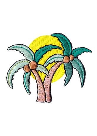 Multi color Other . Mini Palm Trees Sticker Patch -