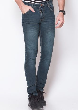 Grey color Jeans . 2Nd RED Celana Jeans Pria Comfort Slim Fit Abu Tua  133259 -