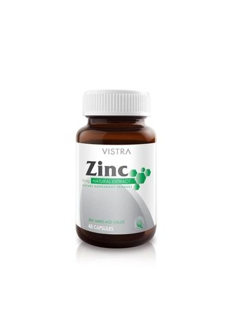 No Color color Weight Management . VISTRA Zinc 15mg (45 Tablets) -