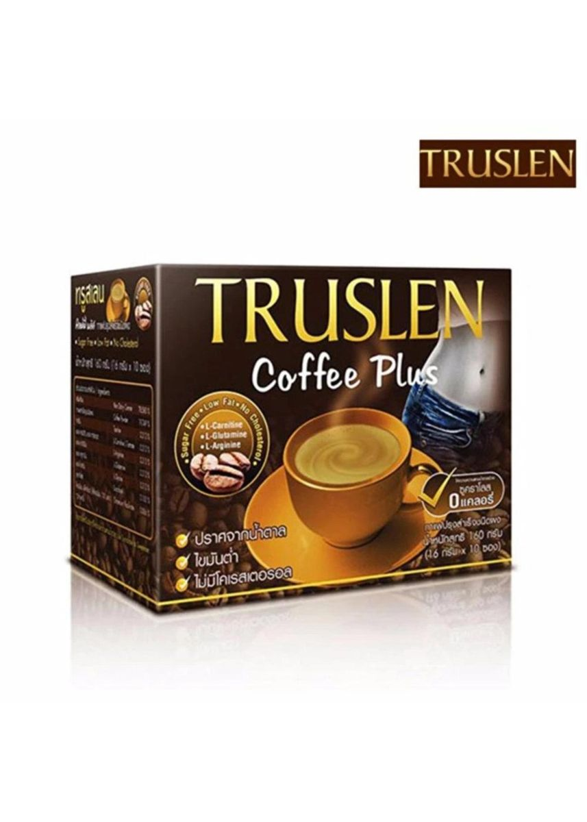 No Color color Weight Management . TRUSLEN COFFEE PLUS 160 กรัม 10 ซอง (1กล่อง) -