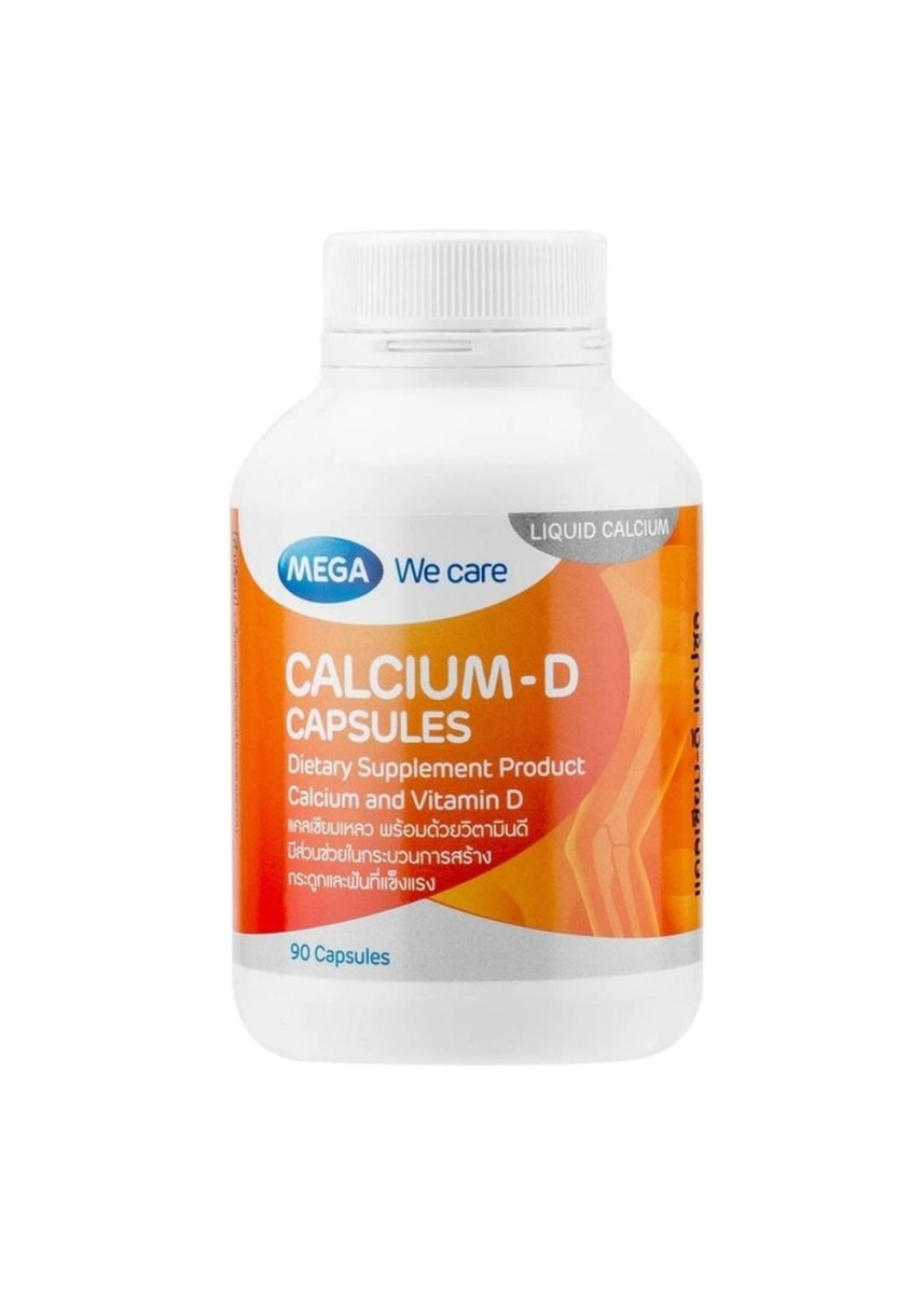 No Color color Weight Management . Mega We Care Calcium-D 90แคปซูล -