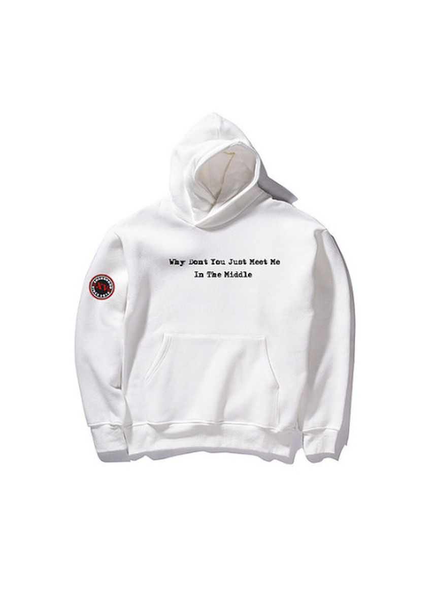White color Jackets . Meet In The Middle Hoodies -
