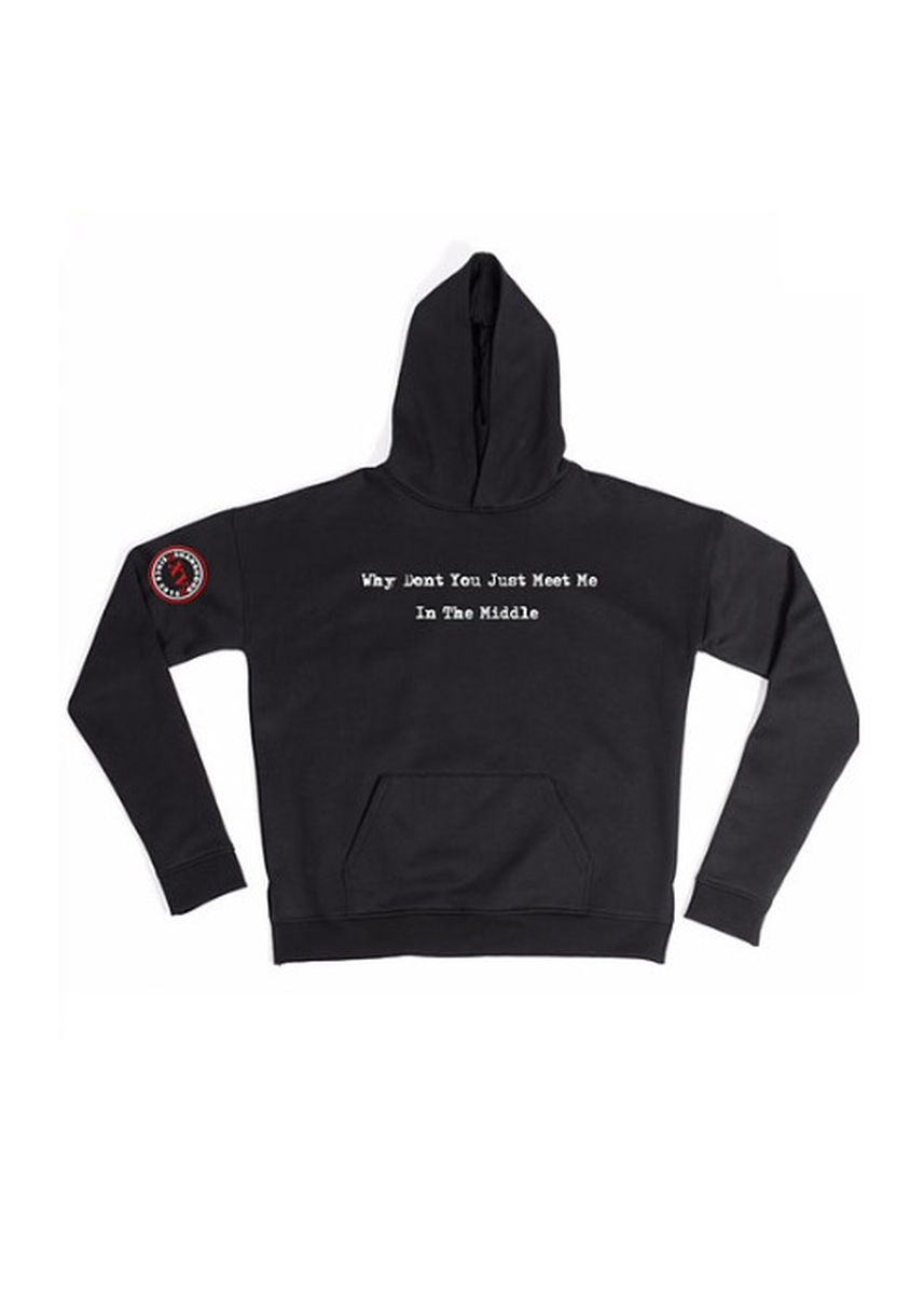Black color Jackets . Meet In The Middle Hoodies -