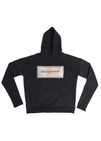 Black color Jackets . Classic Box Cotton Hoodies -